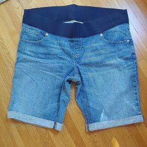 Great Expectations maternity denim shorts